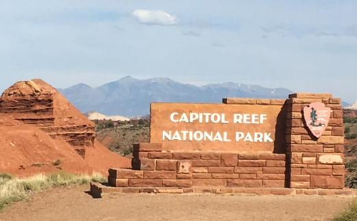 Capital Reef sign
