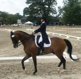Holly on horseback