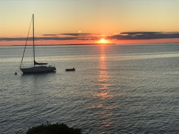 sunset over the sound