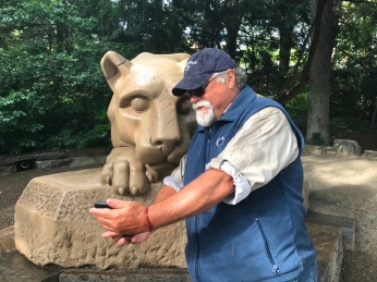 Showing the Lion where I've been